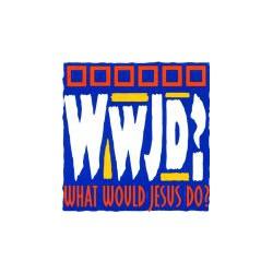 """Adesivo """"WwJD?"""""""