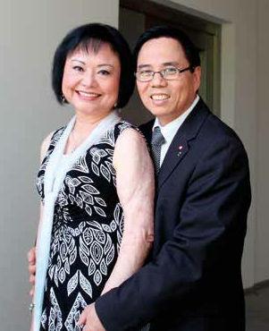 Kim con il marito Toan